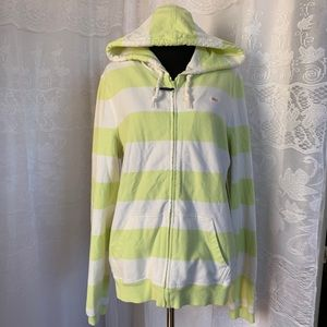 Vineyard Vines Green/white Hoodie Full Zip M
